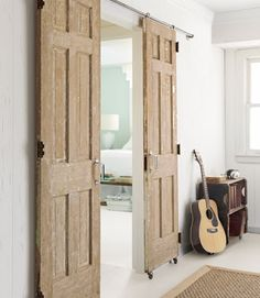 yours would be painted black like the others, but heres an idea of the six panel barn doors