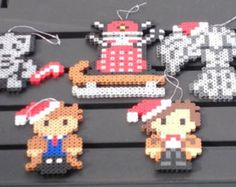 Doctor Who Perler Bead Christmas Ornaments