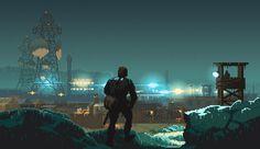Metal Gear Solid V: Ground Zeroes Pixel Artist: Einsbern Source: einsbern.tumblr.com