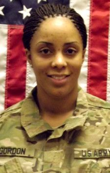 Army SPC. Brittany B. Gordon, 24, of St. Petersburg, Florida. Died October 13, 2012, serving during Operation Enduring Freedom. Assigned to 572 Military Intelligence Company, 2nd Stryker Brigade Combat Team, 2nd Infantry Division, Joint Base Lewis-McChord, Washington. Died in Kandahar Province, Afghanistan, of wounds suffered when enemy forces attacked her unit with an improvised explosive device.