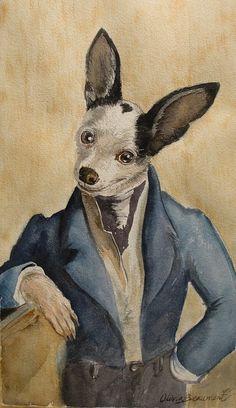 funny pet watercolors