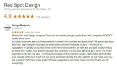 """New 5-Star Web Design Review: """"Simply best web design company! Trust me we worked and got quotes from 30 companies NOBODY comes even close!"""""""