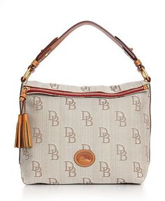 Dooney & Bourke Handbag, Signature Jacquard Top Zip Foldover Sac - All Handbags - Handbags & Accessories - Macy's 198