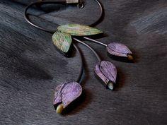 Polymer clay dabble side necklace. Back side. Двухстороннее колье из полимерной глины. Обратная сторона.