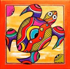 Pop Art, Art Populaire, Madhubani Painting, Arte Pop, Mexican Art, Aboriginal Art, Fish Art, Art Plastique, Stone Art