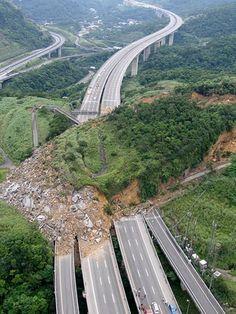 Landslide on North Korea's national highway