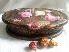 Jewelry box Vintage bouquetdecoupage box shabby by DecorElegancy