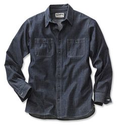The Stronghold® Chambray Denim Workshirt - Made in USA