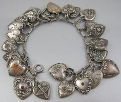 Oh man, I love a good puffy heart charm bracelet, and this one has tons