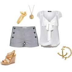 white bow blouse & michael kors sandals