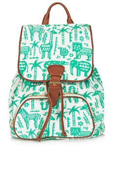Topshop Safari Zoo Backpack