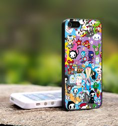 Tokidoki All Character Art - TCA028TB Print on Hard Cover For iPhone 4/4S Case and iPhone 5 Case (Black, White, Clear Colour Case)   $14.99 usd