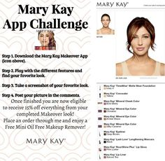 Mary Kay App Challenge www.marykay.com/micamunford