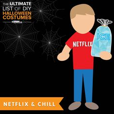 This one is for all you meme-loving bros out there! #NetflixandChill #HalloweenCostume Learn how to create this DIY costume +250 more on the list: ecampusdot.com/1MUKey7