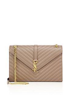 e266ba0c66f4 Saint Laurent - Saint Laurent Monogram Large Grained Chain Bag Saint Laurent  Handtasche