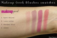 Makeup Geek blushes, my review