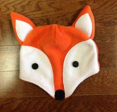 Fox fleece hat free pattern and tutorial - love this!