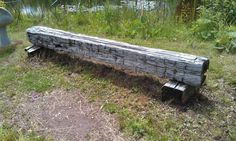 Old beam for a bench