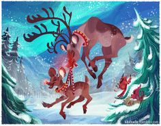 Rudolph the Red Nosed Reindeer Christmas Card