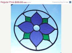HANDMADE+STAINED+GLASS+Violet+Purple+Round+by+SunflowerGlassworks,+$28.80