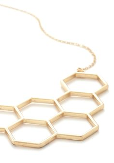Nectar in Line Necklace. The queue at the patisserie extends out the door, but you don't mind the wait.  #modcloth