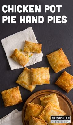 With a cream cheese pie dough and chicken pot pie filling, these ...