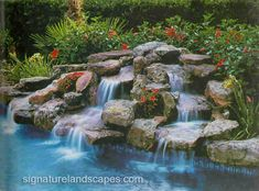 Pools With Waterfalls pool waterfalls | pond | pinterest | pool waterfall, backyard and