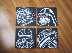 star wars nursery art set #baby #geek