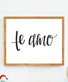 'Te Amo' Print
