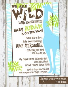 welcome to the jungle baby shower theme - Google Search