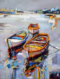 753 best images about Coastal Boat Seascape Paintings, Landscape Paintings, Pinterest Pinturas, Boat Art, Boat Painting, Art Abstrait, Acrylic Art, Oeuvre D'art, Painting Techniques