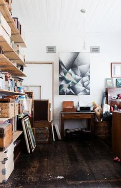 The best thing about home art studio design and decorating is that the artists do not need to follow any rules creating very personal, comfortable and inspiring spaces