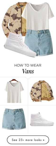 """gang gang "" by sydthekyd01 on Polyvore featuring Miss Selfridge and Vans"