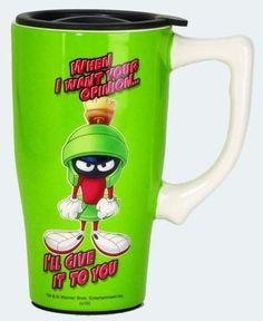 Looney Tunes Ceramic Travel Mug: Marvin the Martian
