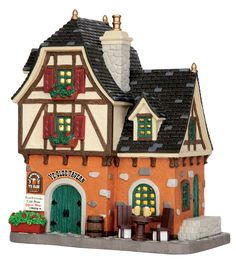 Lemax Ye Olde Tavern. SKU# 55904 Released in 2015 as a Lighted Building for the Caddington Collection.