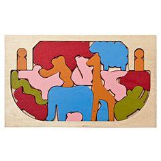 Wooden Noah's Ark Puzzle, #muji, #christmas