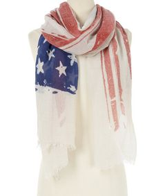 This Red & Blue Stars & Stripes Scarf is perfect! #zulilyfinds