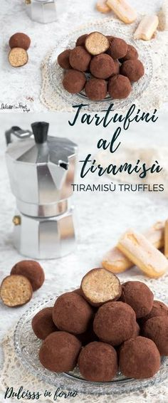 Soft and fast tiramisu tartufini! The tiramisu in sol boc … Tiramisu, Bakery Recipes, Dessert Recipes, Pause Café, Best Italian Recipes, Truffle Recipe, Oreo Cheesecake, Mini Desserts, Nutella