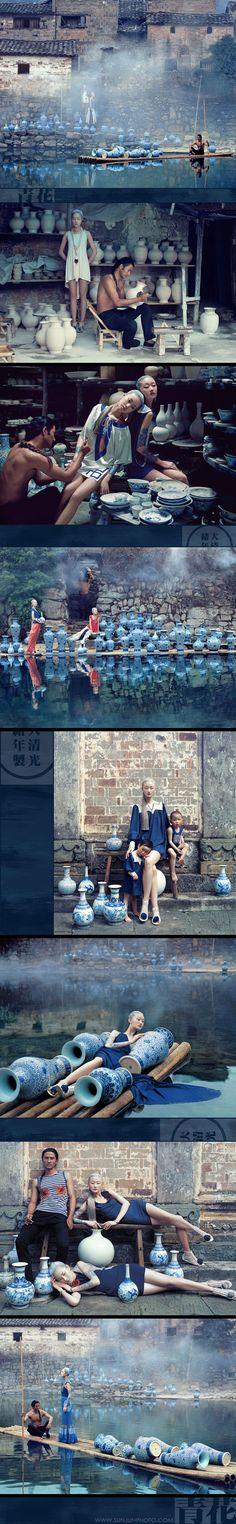 Fashion photography By Sun Jun. Foto Fashion, Fashion Shoot, Fashion Art, Editorial Fashion, High Fashion Photography, Portrait Photography, Chinoiserie, Image Mode, Foto Art