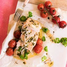 Lemon and Cherry Tomato Salmon