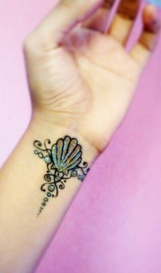 Seashell sharpie tattoo