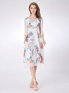 9c1e44bcae8 Alisa Pan Long Sleeve Floral Print Midi Dress