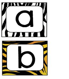 Animal Print Lowercase Letters