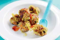 Treat the family to these easy chicken noodle meatballs - the kids, in particular, will love them!