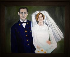 """""""Ron and Joy Before the War"""" oil painting by Natalie Buske Thomas for the Touched by War exhibit August 2012"""