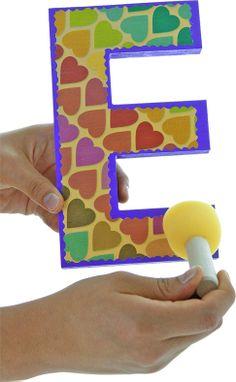 ¡Nuevo Pegamento Glossy! Ideal para madera, papel, unicel, etc. / Letra de madera con papel / Scrapbook