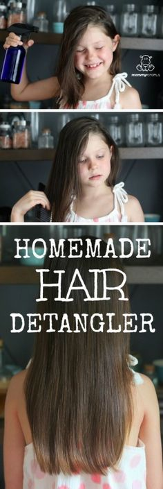 Are there tears over tangles in your house? Here are three detangler spray recipes that are inexpensive and simple to make. Natural DIY detanglers are easier than you might think - you probably already have all the ingredients you need to make recipe #3!