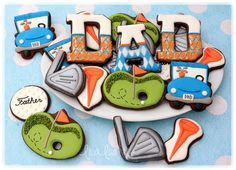 LilaLoa: How To Make Decorated Golf Cookies For Father's Day