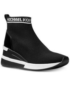 af40e58716e Michael Michael Kors Skyler Sneaker Booties - Black 6.5M Black Wedges  Outfit, Shoes Heels