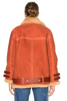 Acne Studios Velocite Suede Jacket in Sienna Brown | FWRD